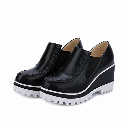 Mee Shoes Damen Geschlossen Durchgängiges Plateau Freizeitschuhe Schwarz