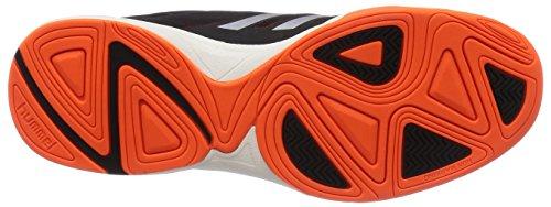 Hummel Celestial X6 - Zapatillas deportivas para interior de material sintético Unisex adulto azul (Azul Noche / Naranja)
