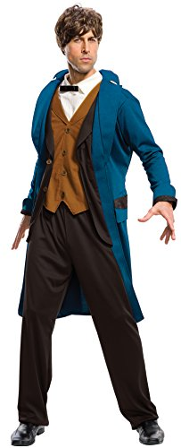 Rubie's Costume Men's Fantastic Beasts Where To Find them Deluxe Newt Scamander, As Shown, X-Large