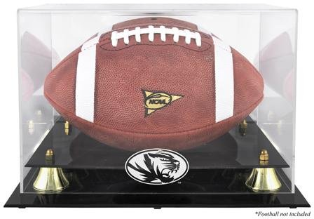 Missouri Tigers Logo Football Display Case | Details: Golden Classic, Mirror Back