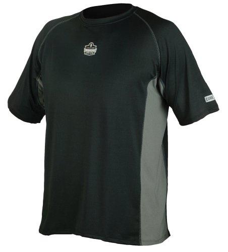 Ergodyne Core - Ergodyne CORE Performance Work Wear 6418 Short Sleeve Shirt, Black, 2X-Large