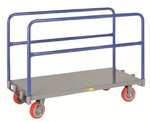 Little Giant APT-2448-6PY Adjustable Sheet and Panel Truck with 6'' Non-marking Polyurethane Wheels, 3600 lbs Capacity, 48'' Length x 24'' Width by Little Giant