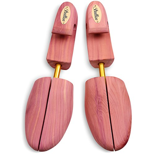 Stratton Men's Adjustable Split Toe Premium Cedar Shoe Tree - Made in the USA (Large)
