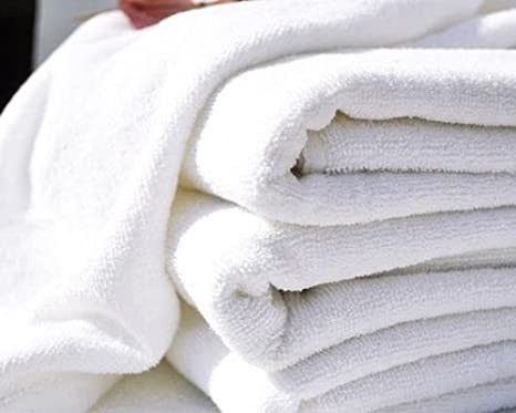 6 pack new white 22x44 cotton absorbent hotel bath towels riegal selects