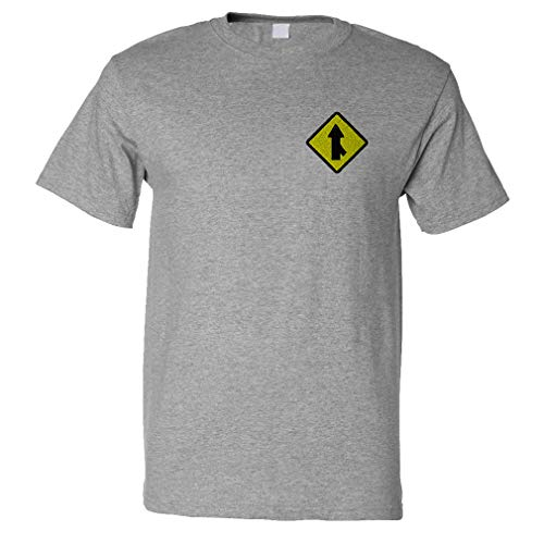 Speedy Pros Funny Graphic T Shirts for Men Merge Sign Cotton Top Oxford Gray Medium