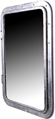 "Nautical Tropical Imports 34"" x 24"" Silver Leaf Finish Rectangular Wall Mount Porthole Mirror"