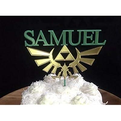 Zelda Crest Personalized Cake Topper: Handmade