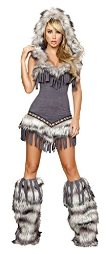 Roma Costume 1 Piece Native American Temptress, Grey, Medium from Roma Costume
