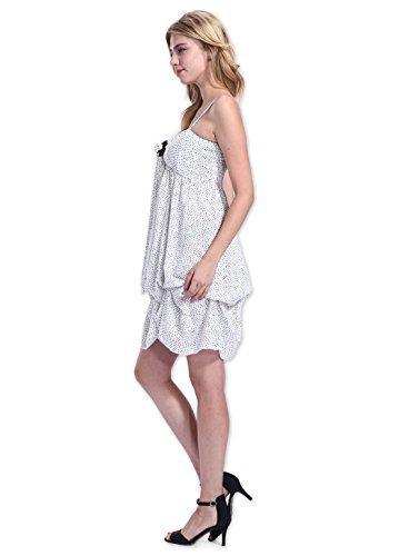 Coton Du Monde - Robe GALINA Imprimée Blanc - M-L