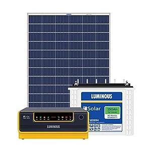 Luminous NXG1400 + LPTT12150H 150Ah 1No + 160Watts Solar Panel 2Nos (Poly)