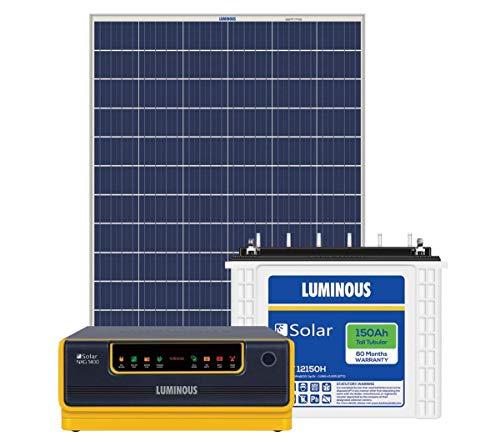 Luminous NXG1400 + LPTT12150H 150Ah 1No + 160Watts Solar Panel 2Nos (Poly) 2021 June Luminous 1400 Sine Wave Solar (12V) Hybrid UPS (Warranty 24Months) Luminous LPTT12150H 150Ah C10 Tall Tubular Solar Battery (Warranty 60Months) x1No Luminous Poly Crystalline 160 Watts Panels (Warranty 25 Years) x 2Nos