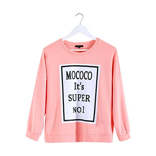 MSSHE Women's Plus Size Pullover Printed Sweatshirts