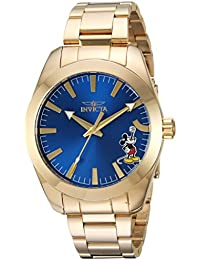 Mens Disney Limited Edition Quartz and Stainless Steel Casual Watch, Color:Gold