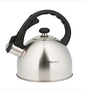 2 l de agua Hervidor para Whistling Kettle Inducción Tetera Tetera Hervidor de agua acero inoxidable