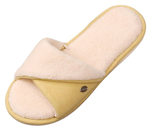 Cattior Womens Open Toe Ladies Slippers Spa Slippers Yellow m2QFab1