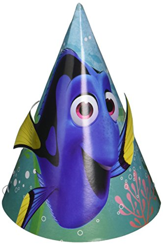 Finding Dory Party Supplies - Cone Hats (Finding Nemo Birthday Party Invitations)