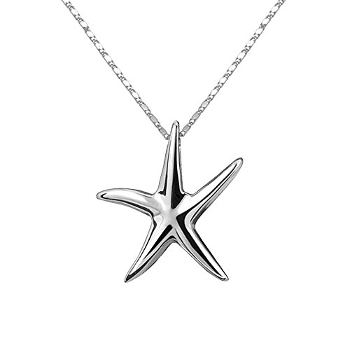 Price comparison product image Creative Necklace Silver Plated Starfish Pendant Necklace for Girls