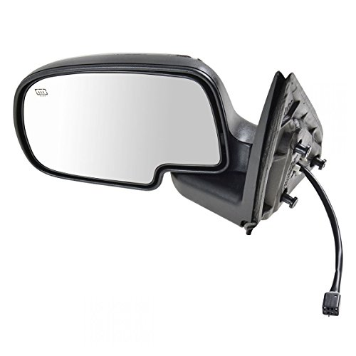 Chrome Heated Power Side View Mirror Driver Left LH for Chevy GMC Pickup Truck ()