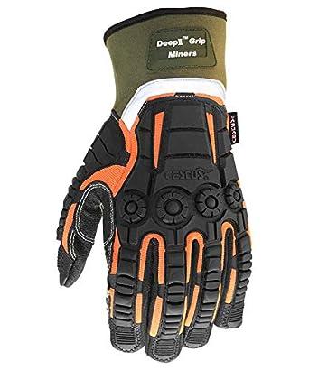 Cestus Pro Series Deep II Grip Miners Impact Glove Cut Resistant Pack of 1 Pair 2X-Large Work Deep II Grip Miners 8025 2XL
