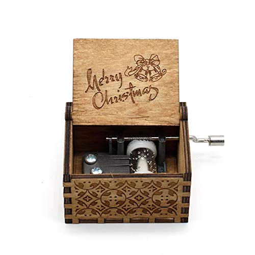 VDV Music Box - Anonymity Lord Rings Music Box- 18 Note Mechanism Antique Carved Music Box Crafts -