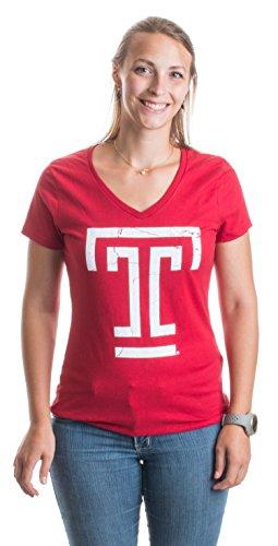 Temple University | Temple Owls Vintage Style Ladies' V-neck T-shirt