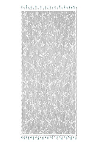 (Heritage Lace Starfish Table Runner, 15 by 36-Inch, White)
