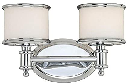 Vaxcel Cr Vlu002ch Carlisle 2 Light Vanity Light Chrome Finish