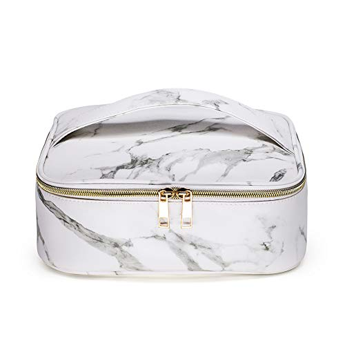 - BBX Lephsnt Marble Makeup Bag Portable Travel Cosmetic Bag Organizer Multifunction Case with Large Capacity and Adjustable Dividers (Marble) ...