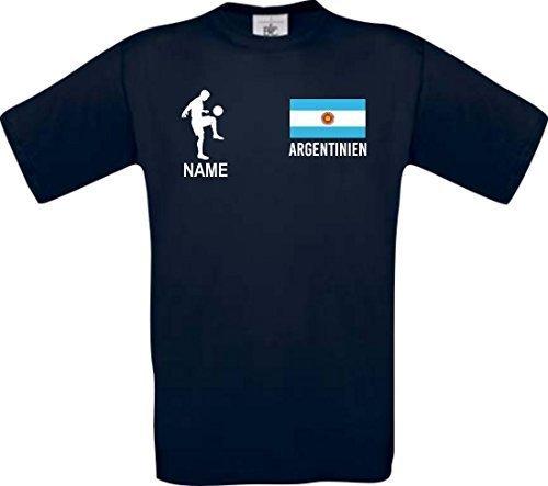Shirtstown Camiseta De Niño Camiseta de Fútbol Argentina Hungría con Su Nombre Deseado Estampado - Azul