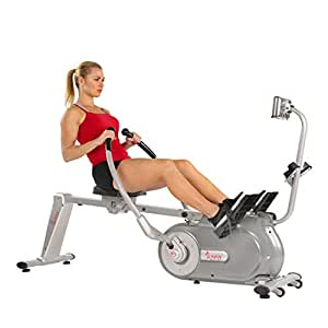 Sunny Health & Fitness Full Motion Magnetic Rowing Machine Rower with LCD Monitor - SF-RW5864