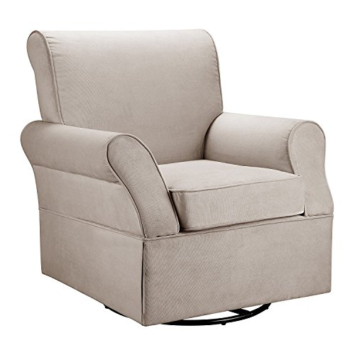 Baby Relax Swivel Glider and Ottoman, Comet Doe (Ottoman Chair Upholstered With)