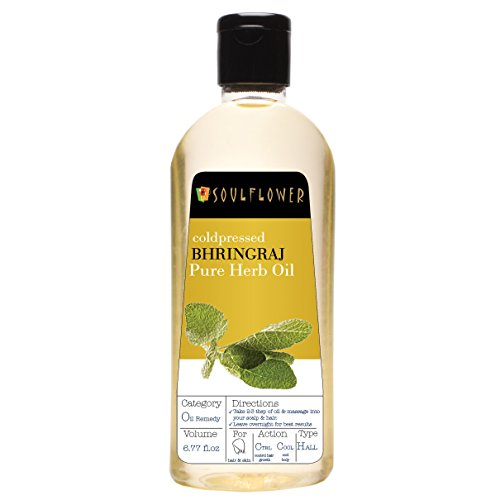 Soulflower Coldpressed Bhringraj Pure Herb Oil, 6.77 fl.oz