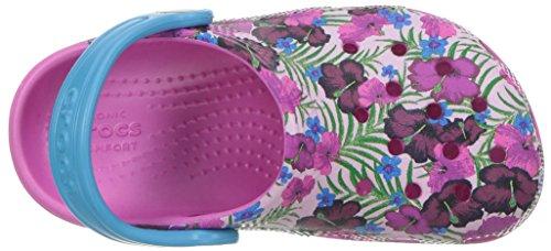 Pink 204118 Crocs Niños Multicolore multi Zuecos color Unisex B0TdxAqwT