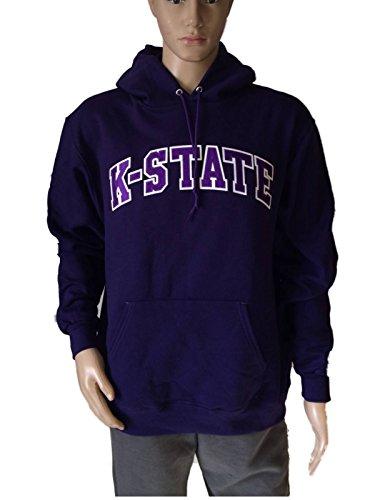Kansas State Wildcats Champion Eco Fleece Purple Pullover Hoodie Sweatshirt (L)