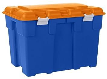 Grande 185 L Explorer Bleu et Orange de coffre de rangement en ...