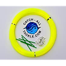 Monofilament Hi-Viz Yellow Fishing Leader Kit 100yds 2.0mm-400lb Loop 2.2mm crimps