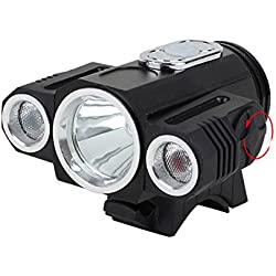 RoseBlue by Risa XANES 360° Rotation 400LM Waterproof Bike Light T6+2XPE 4 Modes Headlamps Handfree Aluminium Alloy Multipurpose LED Outdoor Sports Headlight for Biking Camping Hiking