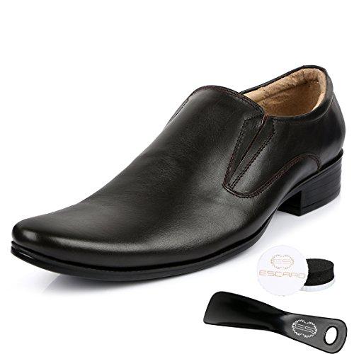 Escaro Men's 100% Genuine Leather Formal Slip On Dress Shoes