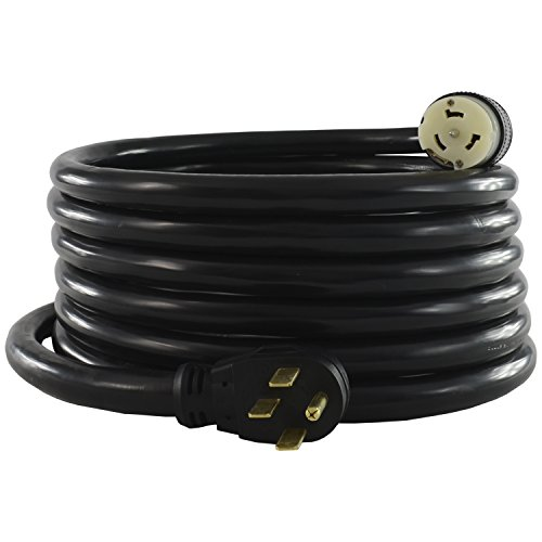 Conntek 1450SS2-50 Temporary Generator Power Cord, 50-Amp Straight-Blade to 50-Amp Locking (50 Feet) (Volt 50' Cord)