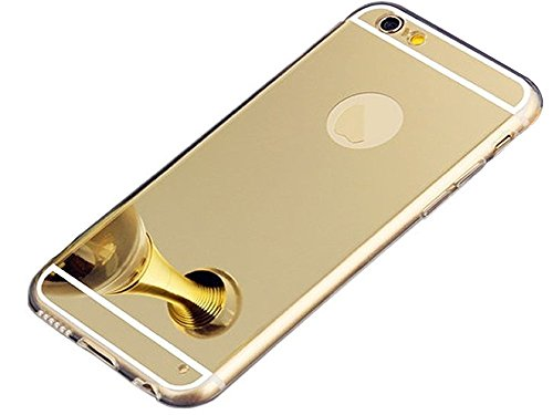 iPhone 6S Plus Case Mirror Shiny Design, BLLQ Super Light Thin Luxury Hybrid Bling Soft Shiny with Shiny Mirror Cover Case for Apple iPhone 6 Plus and iPhone6S Plus (5.5 inch) Shiny Gold