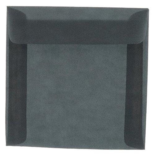 JAM PAPER 8.5 x 8.5 Square Translucent Vellum Invitation Envelopes - Charcoal Grey - 25/Pack ()