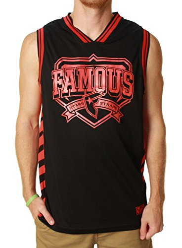 Famous Stars and Straps Men's Conference Champs Jersey, Black, Medium