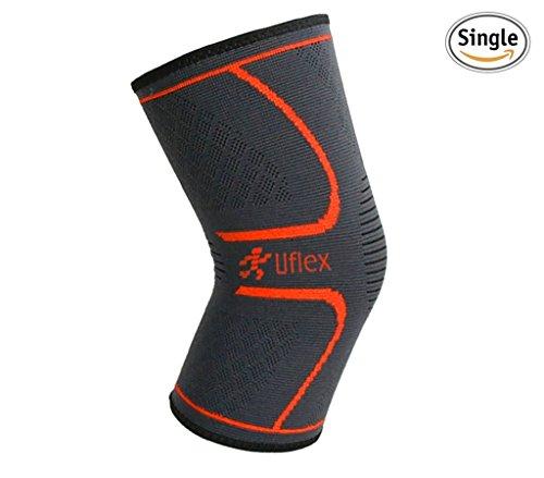 Ultra Flex Athletics Knee Compression Sleeve, Single Wrap, Medium