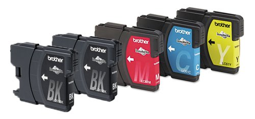 Genuine Brother LC61 (LC-61) Color (2xBk/C/M/Y) Ink Cartr...