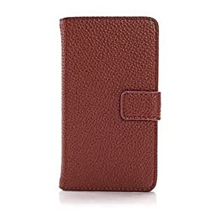 LCJ Luxury Pattern Wallet Leather Case for iPhone 5/5S (Assorted Colors) , Red