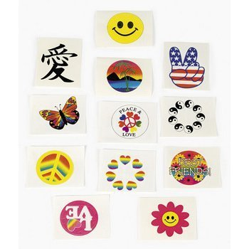 Fun Express Glow in the Dark Temporary Tattoos - 72 Pieces -