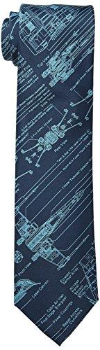 UPC 756500474536, Star Wars Men's Blue Print Tie, Navy, One Size