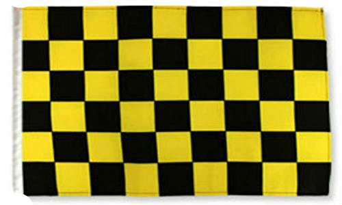 Yellow Checkered Flag - 12x18 12