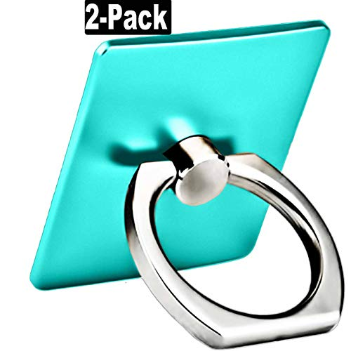 - 2 Pack Finger Ring Stand 360 Degree Rotation Thin Universal Phone Ring Holder Kickstand Compatible with iPhone Xs,XS MAX, X, 8/8 Plus, 7/7 Plus£¬6/6S,5 SE,iPad,Samsung HTC Nokia Other Smartphones-Teal