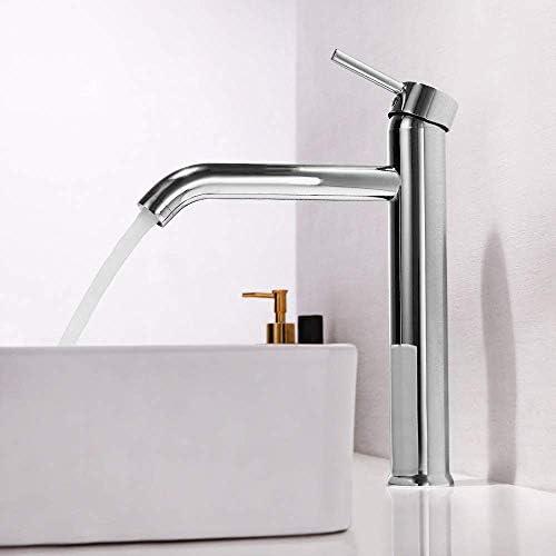 WXQ-XQ 実用的な現代の銅クローム垂直カウンター盆地で高蛇口シングルハンドル単穴の浴室のホットとコールド流域の蛇口美しいです